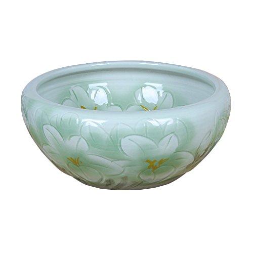 Pot de fleurs BOBE SHOP Chinois Intérieur En Céramique Trous Plantes Hydroponiques Pots Fish Tank Décoration de La Maison 26 * 26 * 12 CM