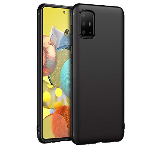 EasyAcc Funda Compatible con Samsung Galaxy A51 5G, Suave TPU Case Protectora Trasera Mate Delgada Carcasa - Negro