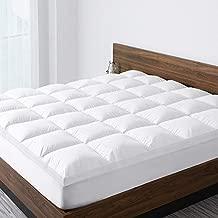 ST Starcast Sleep Solution Extra Thick Mattress Topper(Queen Size),Cooling Cotton Down Alternative Fill Mattress Pad Cover,Gel Fiber Filled Bed Pillowtop,Fits Mattress Upto 21'' DEEP Pocket