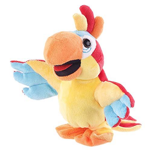 Monsterzeug Laufender Papagei mit Soundeffekt, Sprechender Spielzeug Papagei, Plüschtier mit Aufnahmefunktion, Batteriebetrieben