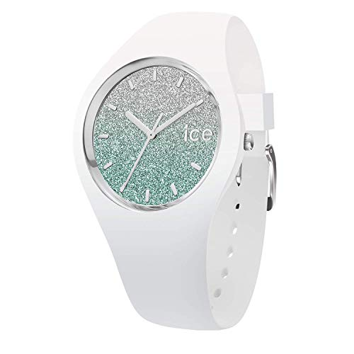 Ice-Watch - Ice Lo Weiß Turquoise - Damen wristwatch mit Silikonarmband - 013430 (Medium)