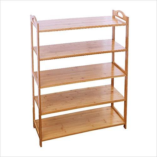 ZAIHW Zapatero Material de bambú Multicapa Modern Economy Home Assembly Gabinete de Zapatos para el Polvo del Dormitorio Multiusos (Tamaño: 51 * 26 * 88cm)