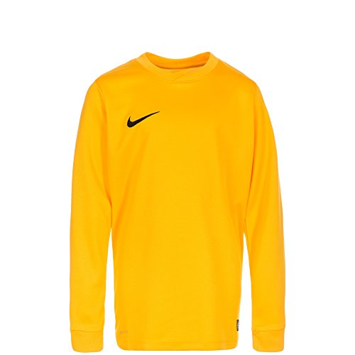 Nike LS YTH Park Vi JSY Camiseta de Manga Larga para Niños, Amarillo (University Gold/Negro), M