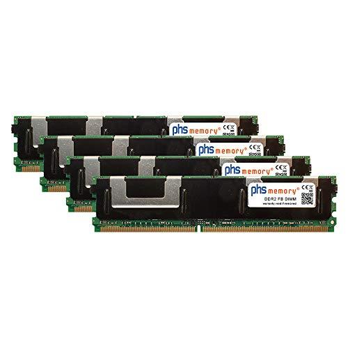 PHS-memory 32GB (4x8GB) Kit RAM módulo para DELL Precision T7400 DDR2 FB DIMM 667MHz PC2-5300F