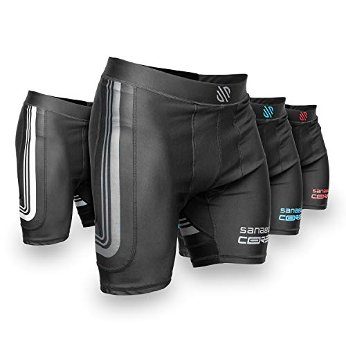 Sanabul Core Compression Base Layer Workout Shorts (Gun Metal, Large)