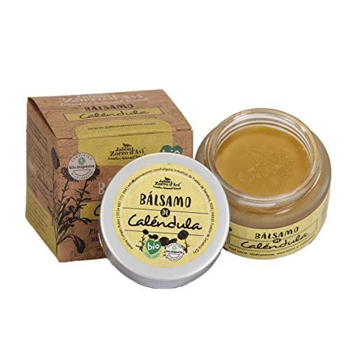 Jabón Zorro D'Avi | Crème hydratante pour le visage et le corps | Baume au Calendula bio | 50 ml | Nourrit | Crème pour le visage, le corps et les lèvres | Régénère et cicatrise | Fabriqué en Espagne