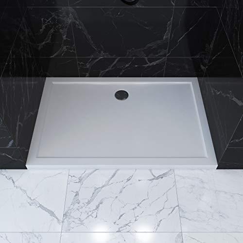 Duschtasse Duschwanne rechteckig 120 x 90 cm - hochwertige Duschtasse aus Sanitär-Acryl, passend für Duschabtrennungen mit einer Grundfläche von 120 x 90 cm