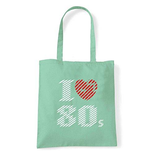 Art T-shirt lv-80-bag - Bolso al hombro de Algodón para mujer MENTA Talla única