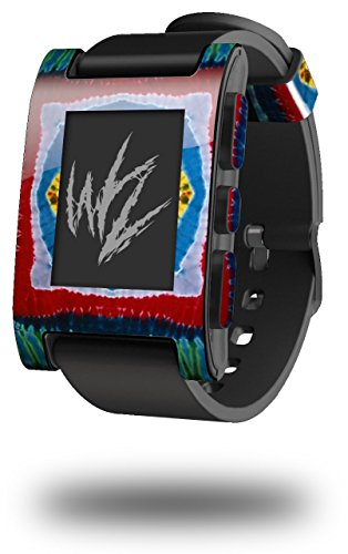 Tie Dye Circles and Squares 101 - Decal Style Skin fits Original Pebble Smart Watch (Watch Sold Separately)