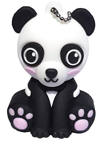 Panda 16 GB - Memoria Almacenamiento de Datos – USB Flash Pen Drive Memory Stick - Diseño Unico y Original - Negro y Rosa