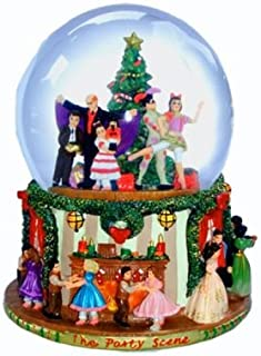 Party Scene Musical Snow Globe Plays The Nutcracker Suite March by Tchaikovsky