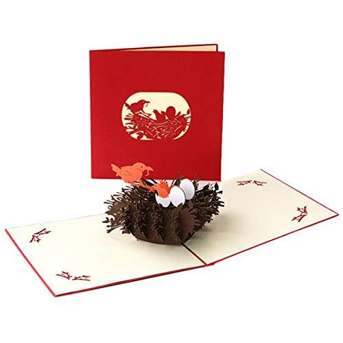 Mother's Day Card Muttertagskarte 3D Pop-up Grußkarte Women's Day Papier Skulptur Karte mit schönen Papier-Cut, Personalisierte Geschenk Andenken für Mama Geburtstag Special (B-11)