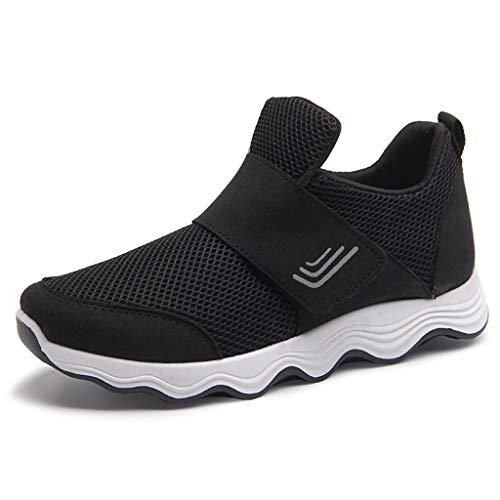 Damen Mode Mesh Atmungsaktiv Walking Schuhe Outdoor Plattform Sneakers Freizeit Leichte Laufschuhe Gym Sportshuhe Freizeitschuhen Outdoor gemütlich Laufschuhe Faule Schuhe mit Klettverschluss TWBB