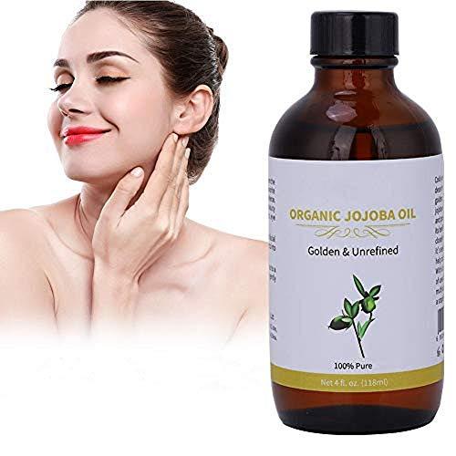 Huile de jojoba organique naturelle, huile de support naturelle non raffinée pour le mélange des huiles essentielles, hydratant et nettoyant pour le visage