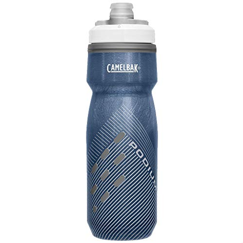 CAMELBAK Podium Chill Bottle Perforated Dark Blue 710mlCool Cold Insulated Water Flask Vessel Bidon Gym Sport Cycling Cycle Ice Jacket Mountain Bike Ride Drink Hydration Reusable Plastic BPA Free