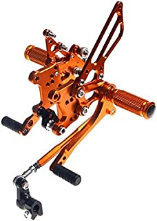 Gold Motorcycle Parts CNC Fully Adjustable Billet Rearsets Rear Sets Foot Pegs Fit For Aprilia RSV 1000 R FACTORY