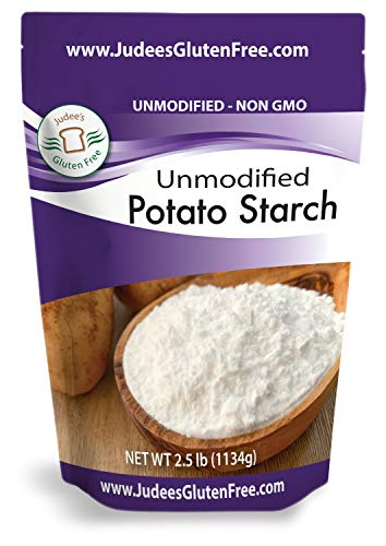 Judee's Unmodified Potato Starch (2.5 lbs) Non GMO, Dedicated Gluten & Nut Free Facility