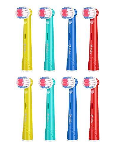 Milos 8er Aufsteckbürsten Kompatible für Oral B Kinder Elektrische Zahnbürsten
