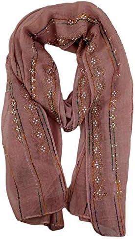 Womens Scarves, Long Scarf, Shawl, Headband Fashion Diamond Pearls Hijab
