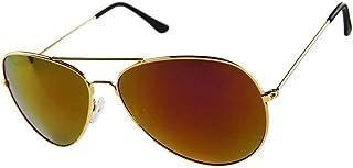 نظارة شمسية للجنسين اطار ذهبى لون عدسات بني رقم الصنف 530 - 7