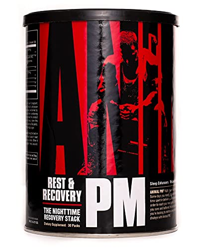 Animal PM - Zinc, Magnesium, Vitamin B6 - GBA + AKG - Immune and Recovery Complex - Sleep and Relaxation Complex - Night time Anabolic Recovery Stack - 30 Night Supply