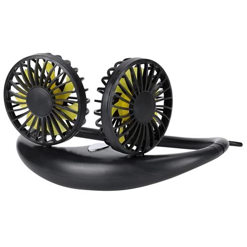 Socobeta Ventilador portátil para colgar en el cuello del ventilador USB ventilador de refrigeración para el hogar al aire libre (negro, tipo torre inclinada de Pisa