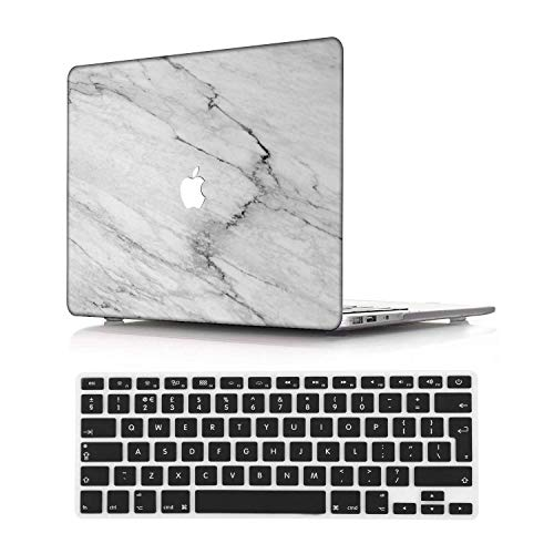 NEWCENT New MacBook Pro 15' Case,Plastic Ultra Slim Light Hard Case UK Keyboard Cover for Mac Pro 15 with Touch Bar 2016-2018 Release (Model:A1707/A1990),Marble A 142