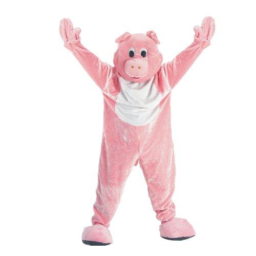 Dress Up America Costume de mascotte de cochon adulte , Taille Unique (taille- 152 , hauteur- 191 cm) , Rose-Rose
