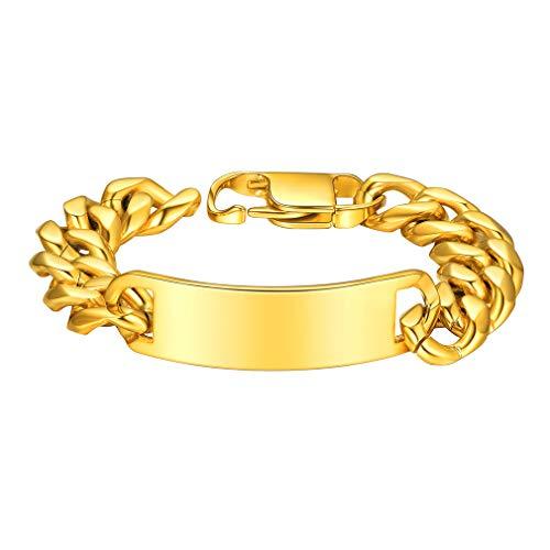 Custom4U Mens gouden armband mannen armband ketting 19cm armband voor mannen