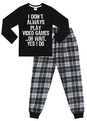 PyjamaFactory - Pijama Largo Tejido con Texto en inglés I