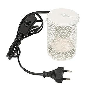 100W Lámpara de Calor para Reptil, Lámpara de Bombilla de Calor de Cerámica Infrarroja para Tortugas, Polluelos, Lagarto, Serpiente(Blanco UE)