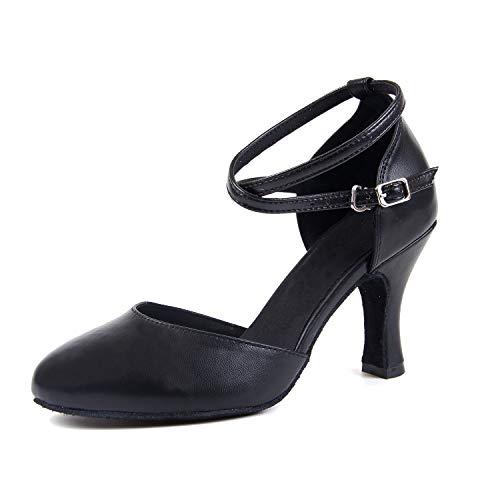 Syrads Mujer Zapatos de Baile Latino Salsa Americano Zapatos de Baile de Salón Moderno Tango Vals