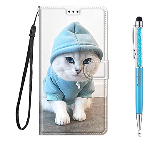 Grandoin für Huawei Y5 2019 / Honor 8S Hülle, Handyhülle im Brieftasche-Stil, Handytasche PU Leder Flip Cover Kreative Muster Book Hülle Magnet Hülle TPU Schutzhülle Lederhülle Hülle (Katze 3)