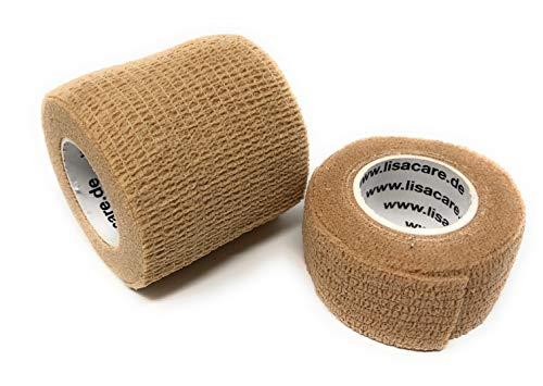 LisaCare Pflasterverband, Fingerpflaster -selbsthaftend & elastisch- Wundverband, Fixierverband, Pflaster für Menschen & Haustier