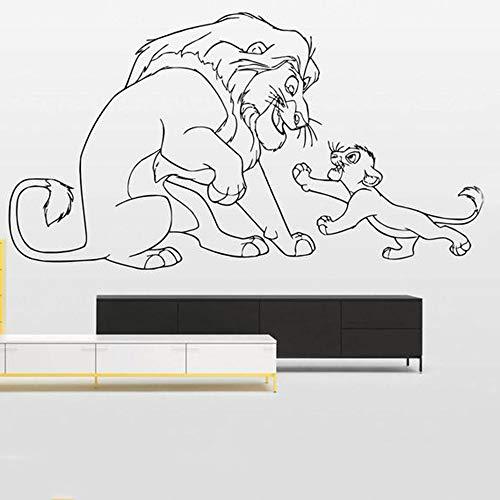 wangpdp Roi Lion Decal Simba Vinyle Stickers Muraux Stickers Intérieur Maison Décoration Accessoires pour Salon Enfants Chambre 57 * 101 cm