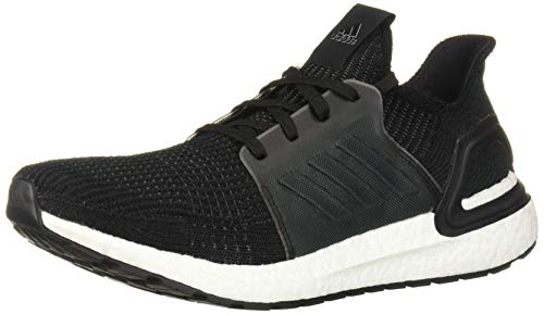 adidas Men's Ultraboost 19 Running Shoe, Black/Black/White, 13 M US