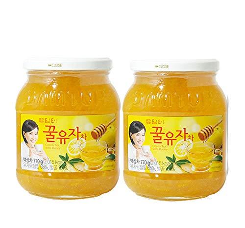 DAMTUH Korean Honey Citron Tea, Citron Tea with Honey, 27.16 Oz (770g) x 2 Bottles