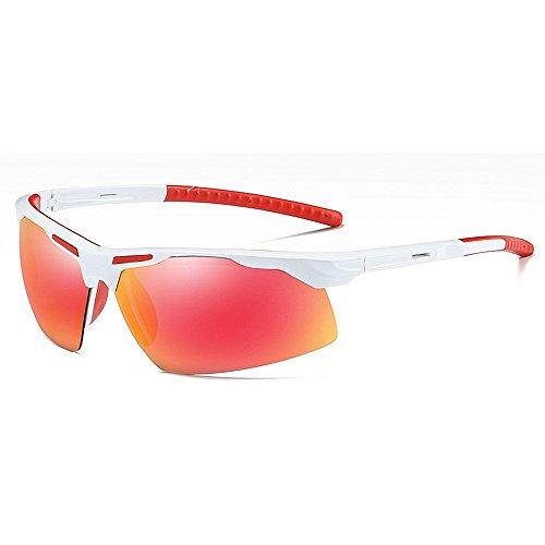 LAMZH Gafas de Sol polarizadas para Deportes de Moda para Hombres de Moda con Estuche UV400 Protección de conducción Ciclismo Corriendo Pesca Golf (Color : C3)