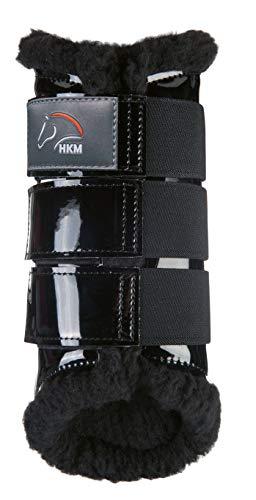 HKM 547992 HKM Gamaschen -Comfort Lack-, L, schwarz/schwarz