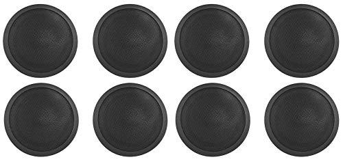 (8) Rockville CCL5T Black 70V 5' Commercial Ceiling Speakers 4 Restaurant/Office