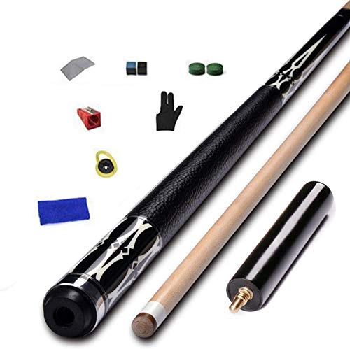 WEHOLY 147cm Pool Cues, 1/2 Joint Handmade Maple American Nine Ball Cue with Cue Case and Extension-12.75mm Tip Pool Cue