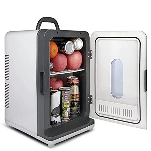 XiYou Car Refrigerator-18L Silent Mini Frigorífico y Calentador, Uso en el hogar y en el automóvil para automóviles y Camiones