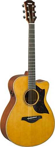 Yamaha A-Series AC3M Acoustic-Electric Guitar with Soft Case, Vintage Natural