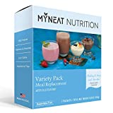 My Neat Nutrition Meal Replacement Shake Variety Pack - Includes 7 Delicious Flavors - High Protein Shake or Pudding - Pre Workout For Men and Women - Kosher Keto Shake 7 Packets