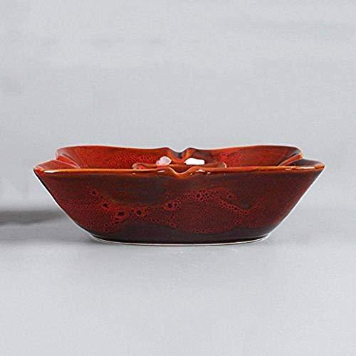 LILICEN Cenicero, Decoraciones del Arte del Arte Sala de Mesa de café Simple cenicero de cerámica Cuadro de la Lluvia Moderno Escritorio