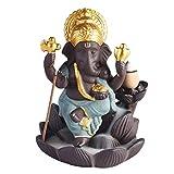 SUPVOX Quemador de incienso de cerámica Ganesha elefante Dios titular de incienso Ganesh estatua elefante Buda estatua verde