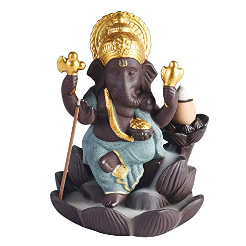 SUPVOX Quemador incienso reflujo cerámica Ganesha