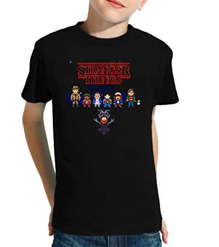 Camiseta de NIÑOS Stranger Things Once Series Retro 80 Eleven Will 014 9-10 Años