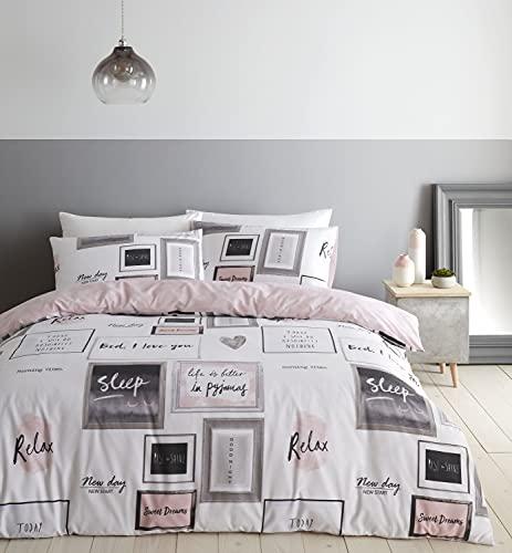copripiumino matrimoniale seta Catherine Lansfield Sleep Dreams - Set copripiumino per letto matrimoniale