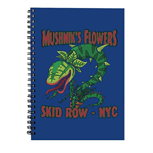 Mushniks Flowers Skid Row NYC Little Shop Of Horrors Spiral Notebook